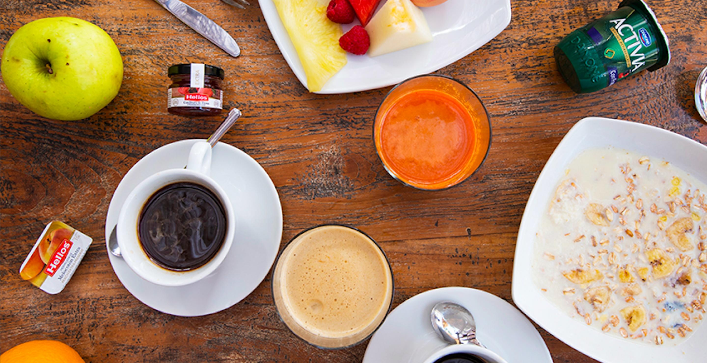 Saludable desayuno buffet