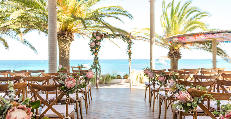 Wedding celebration Ibiza decoration